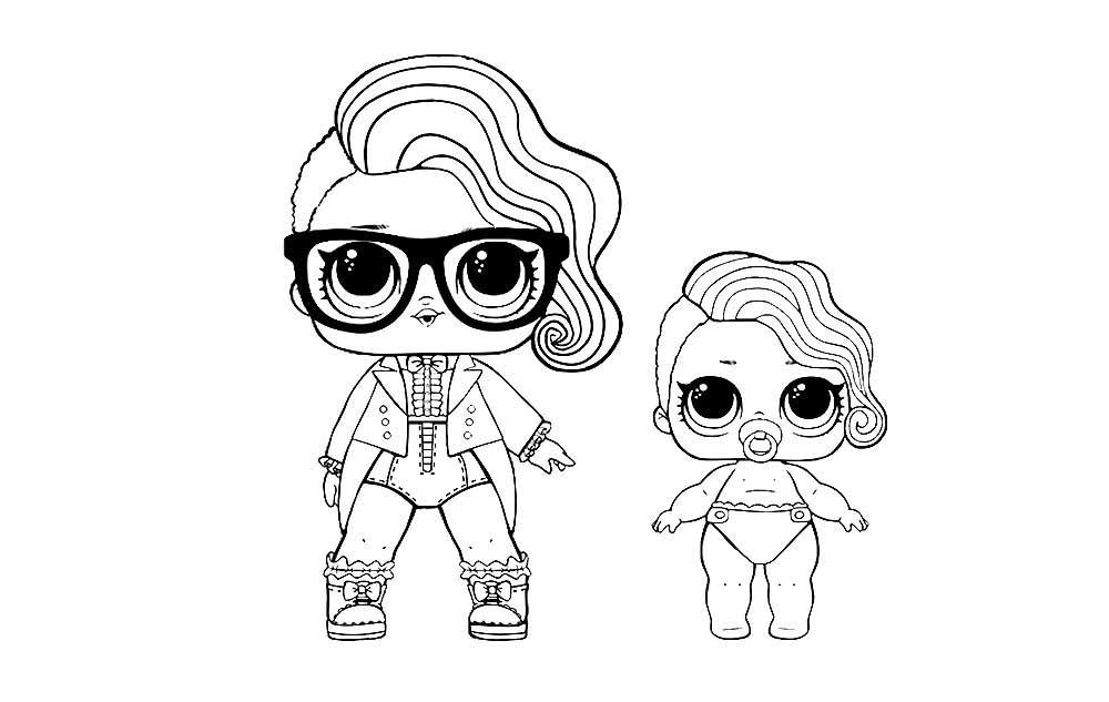 раскраски кукла лол конфетти поп детские раскраски