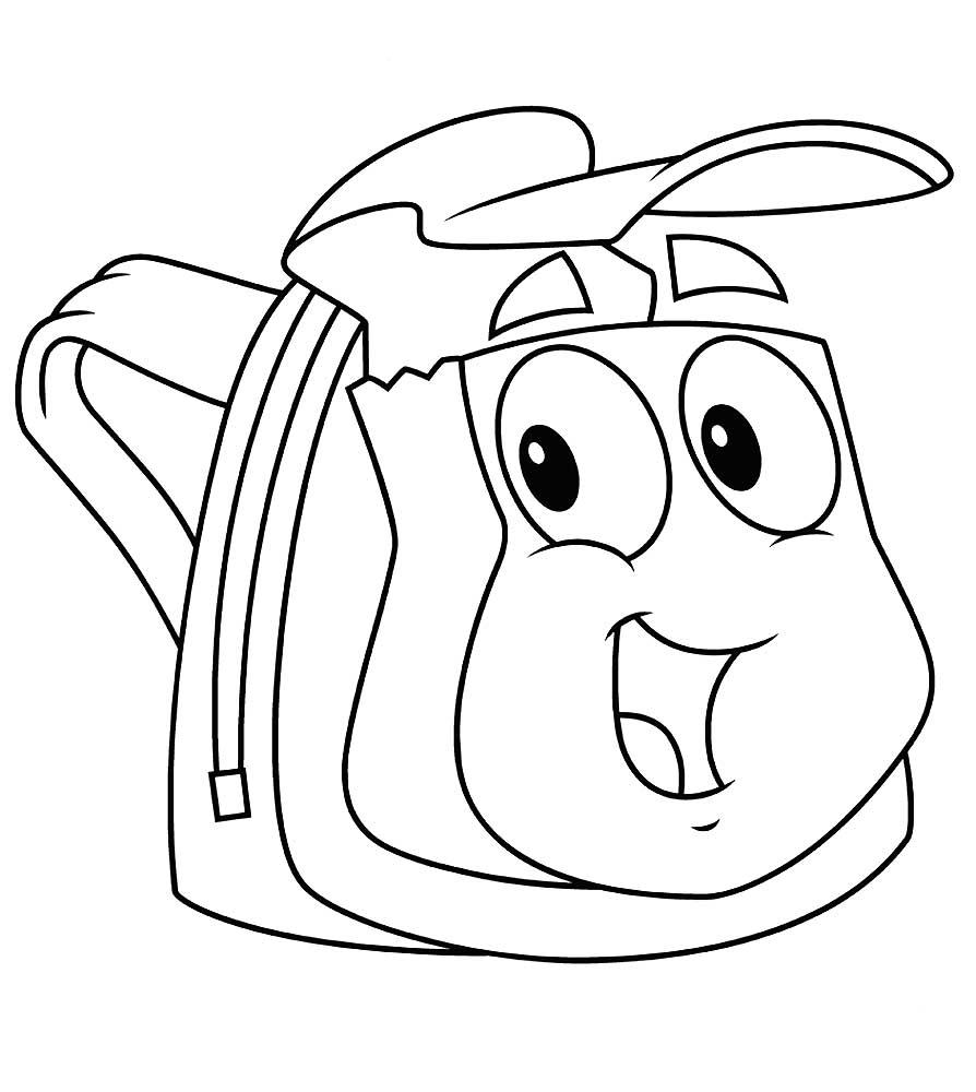 картинка рюкзачок раскраска удивило