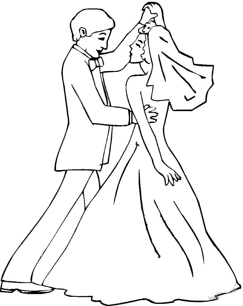 Котами, картинки свадьба раскраски