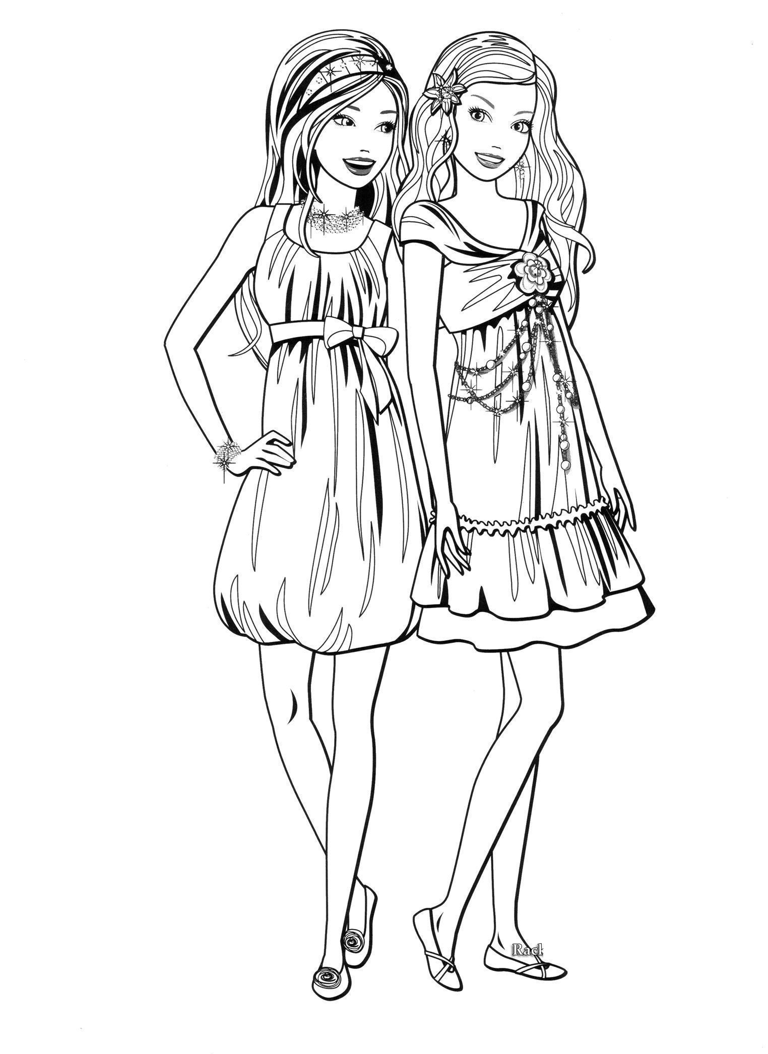 Раскраска платьев для девочек 193