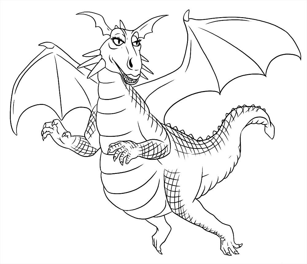 Изображение дракона картинки раскраска