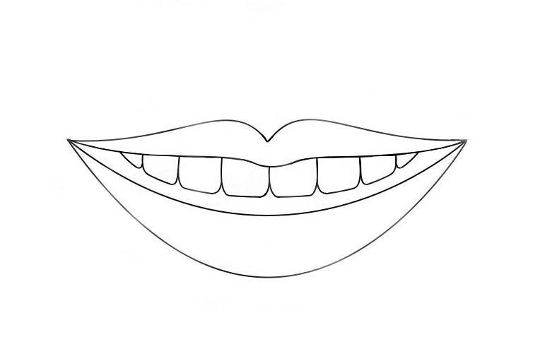 что картинки черно белые для распечатки губы было