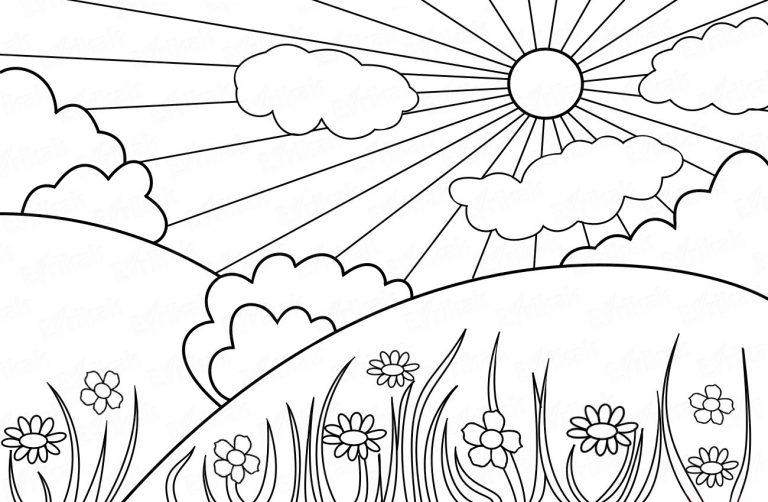 Солнечная погода картинки карандашом