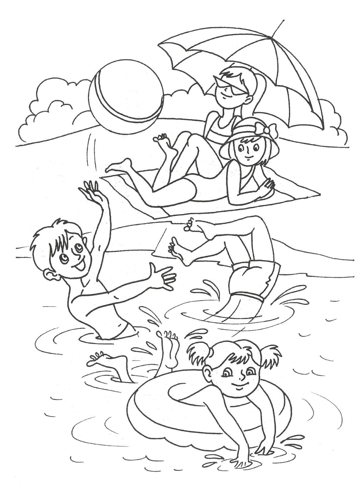 распечатать картинки про лето детям сможете найти готовые