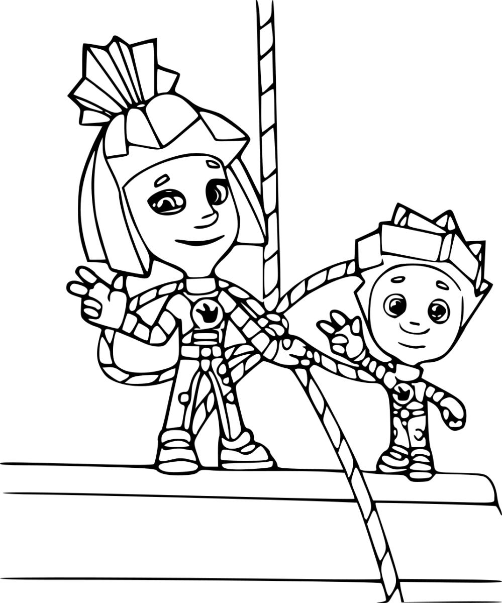Раскраска фиксики бесплатно для детей