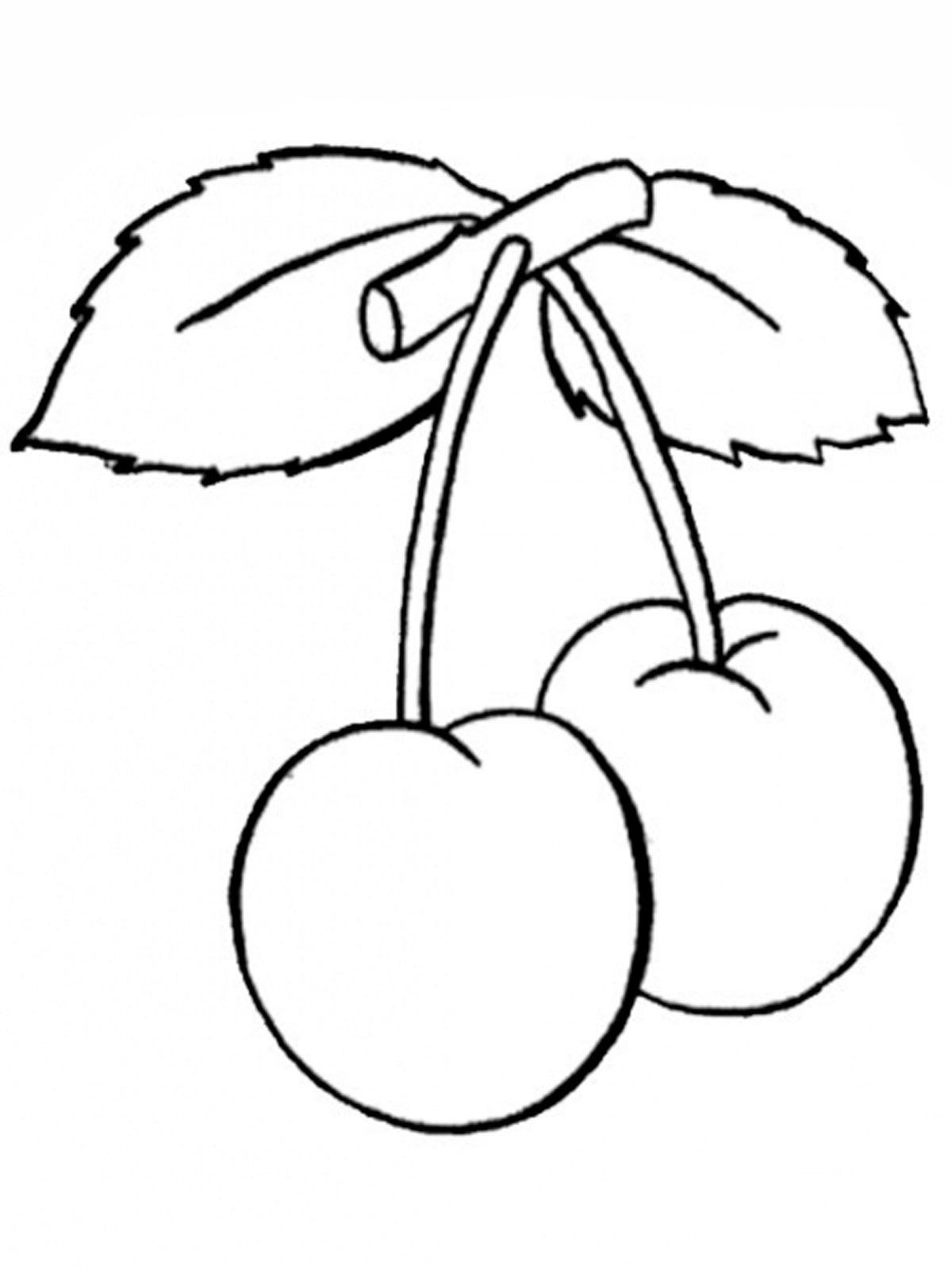 Раскраска Ягоды - детские раскраски распечатать бесплатно
