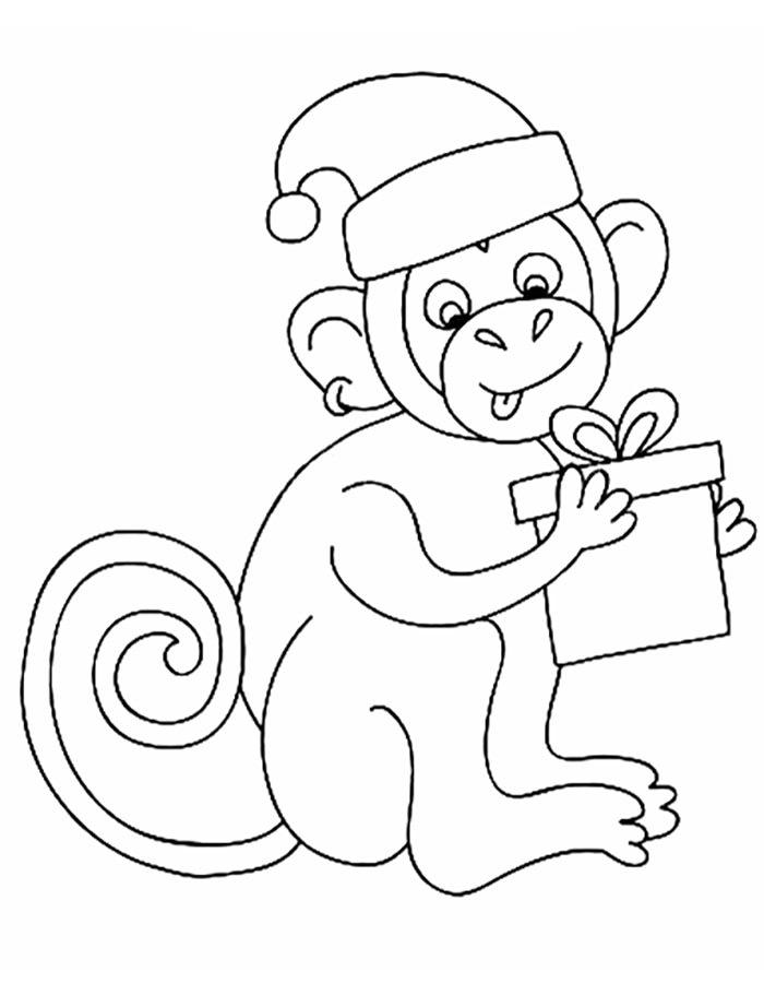 Раскраски обезьянка 2016