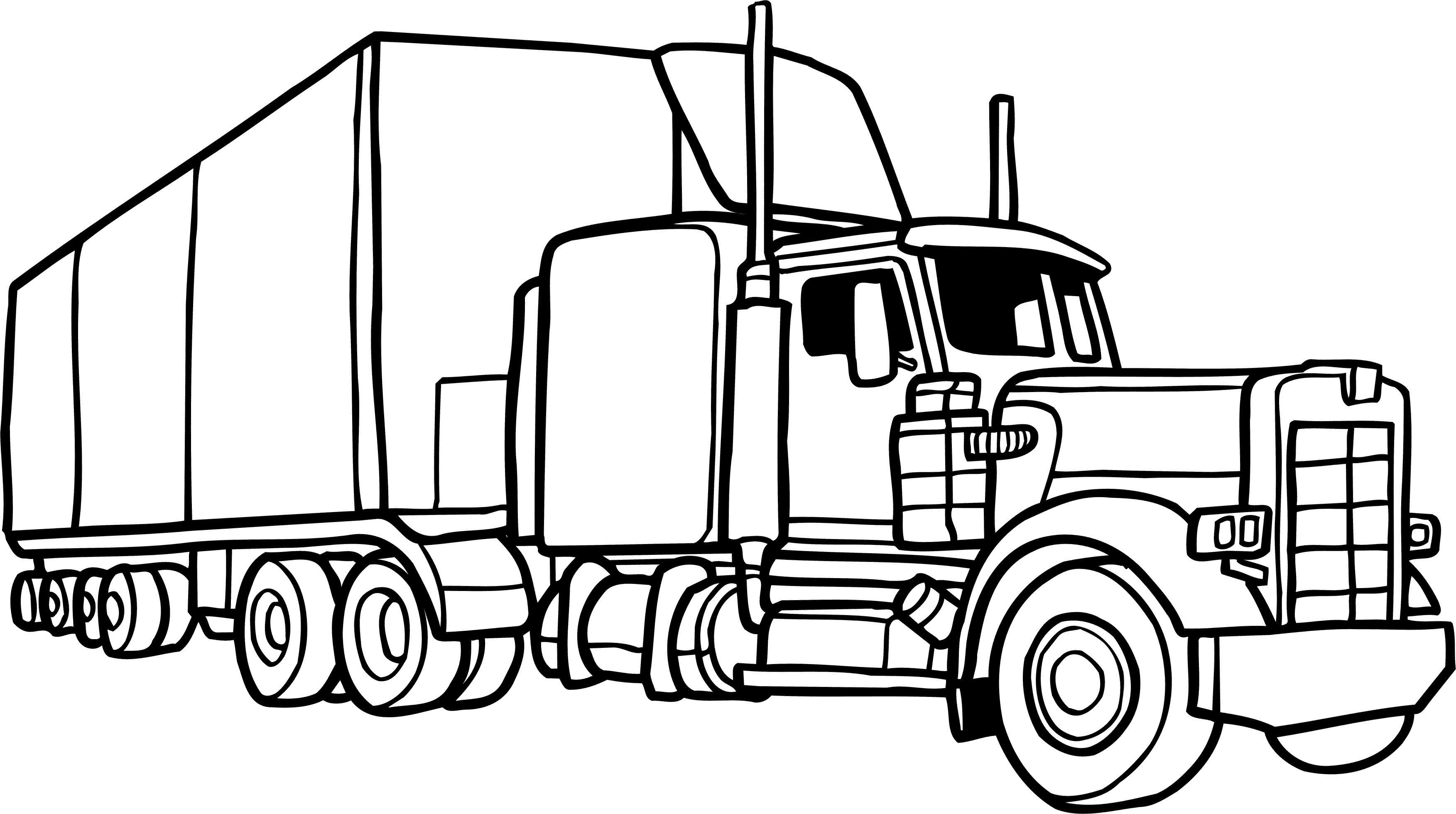 Картинки раскраски грузовиков