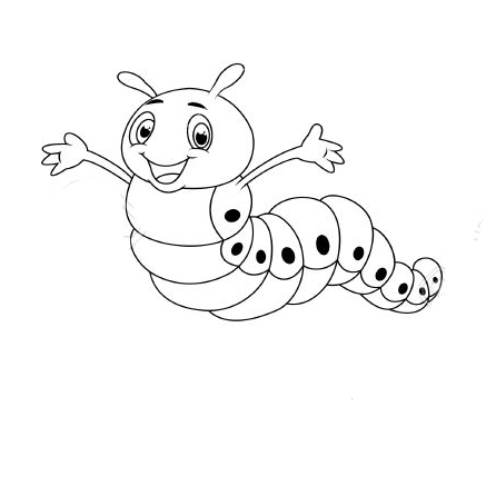 гусеница раскраска картинка