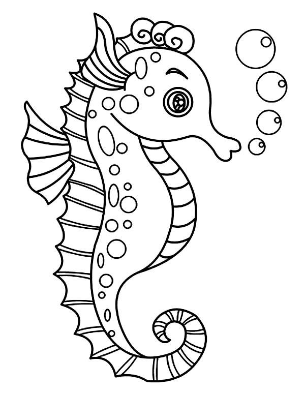 Морские обитатели картинки для детей шаблоны