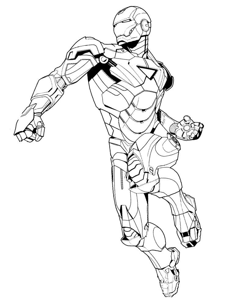 Железный человек картинки для детей раскраски