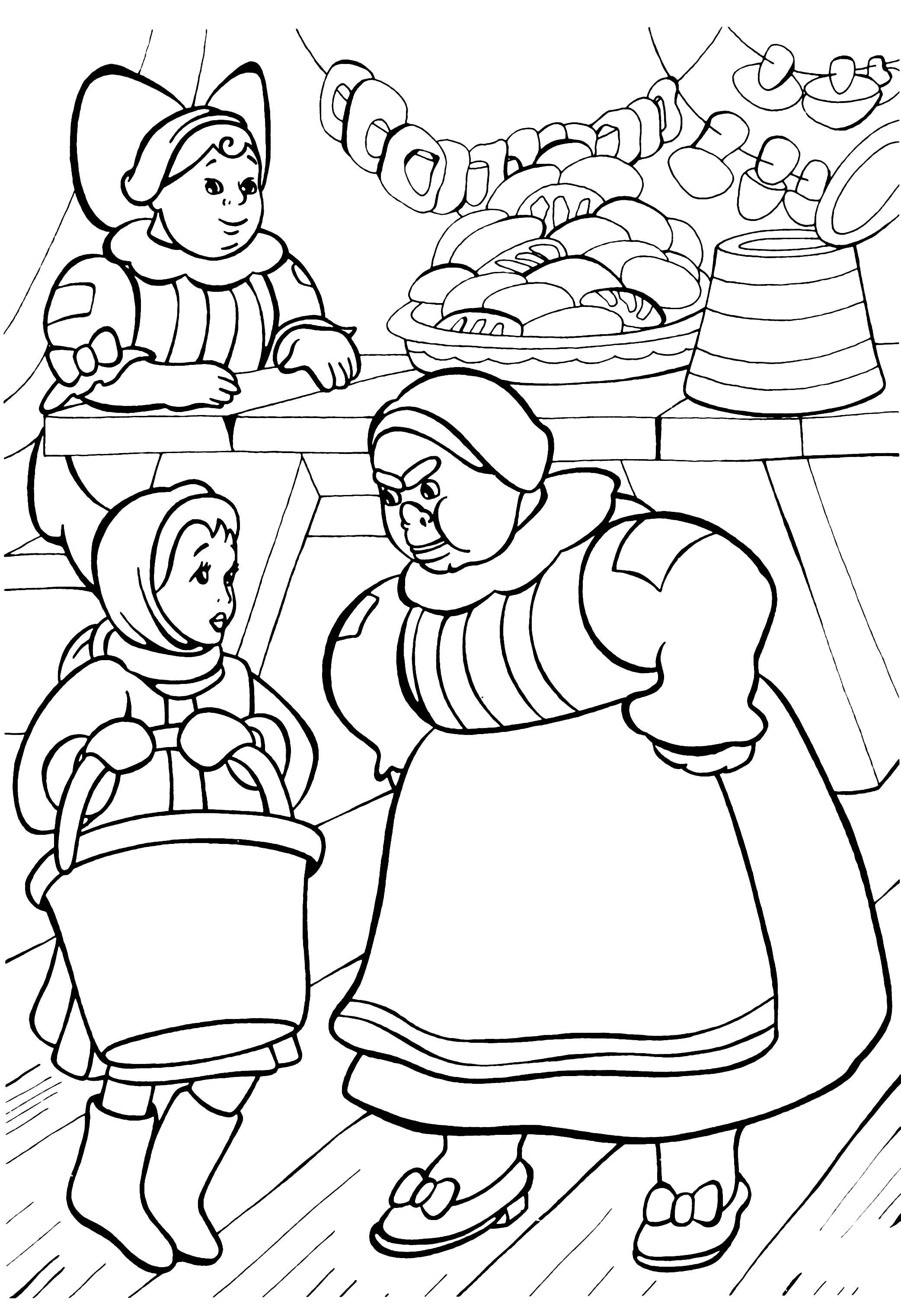 раскраска сказка 12 месяцев детские раскраски распечатать