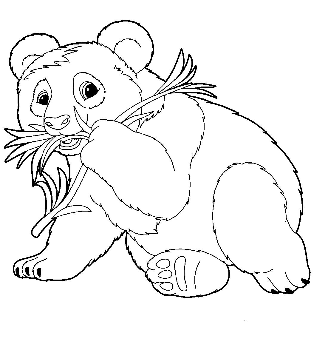 Панда раскраска распечатать