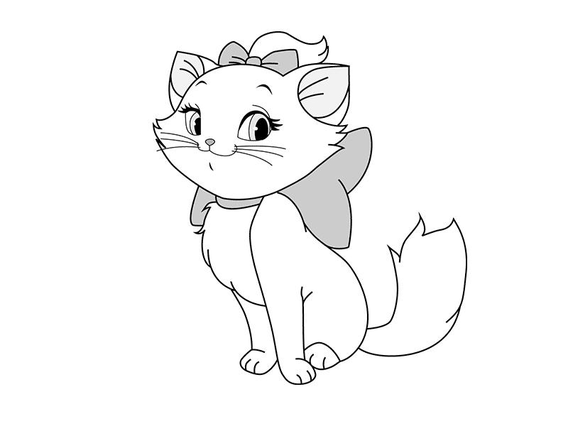 Картинки для раскраски кошка