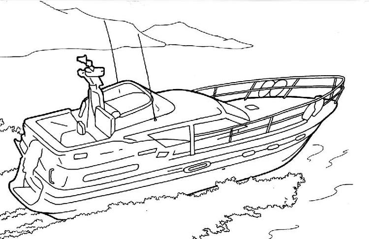 Рисунки катера карандашом