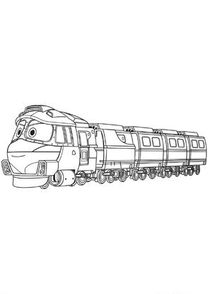 Раскраски Роботы поезда - детские раскраски распечать ...