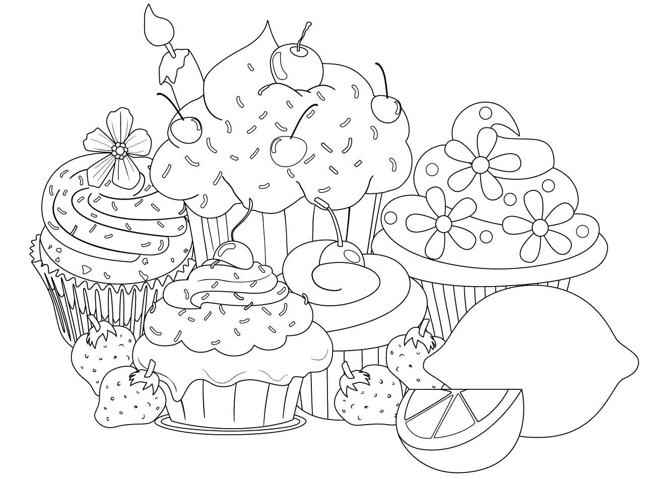 давида раскраска антистресс пирожные нужно