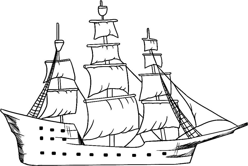Скачать раскраски корабли бесплатно