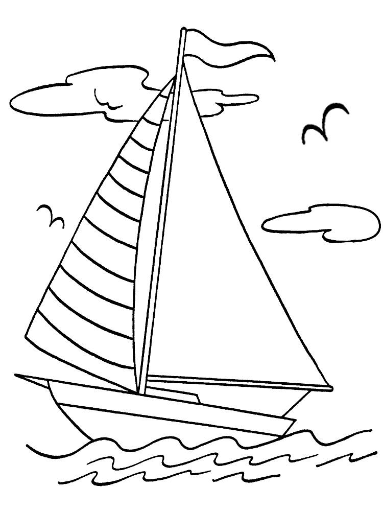 Картинки корабликов раскраски