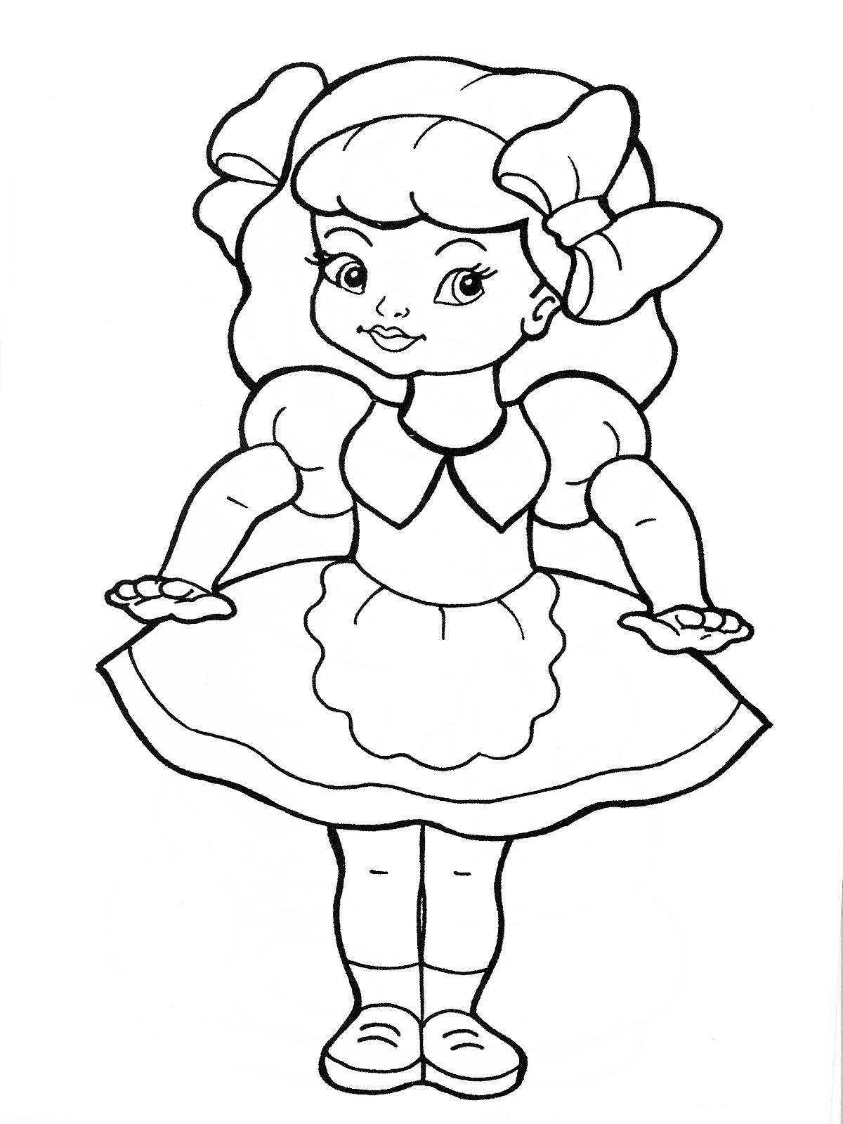 Раскраска для девочек 1 класс