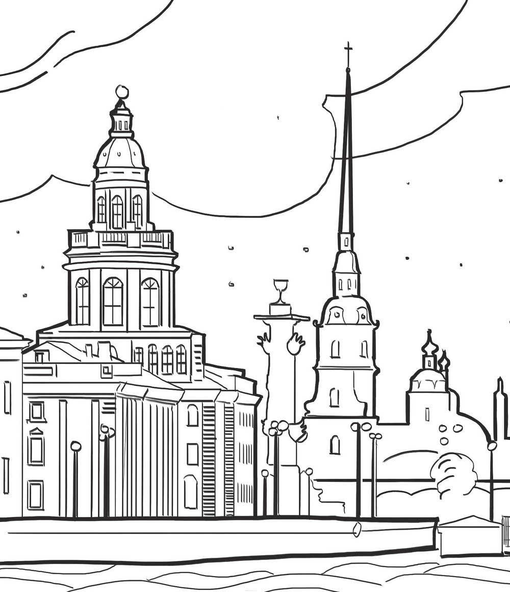 зимний санкт-петербург картинки раскраска новогодние поздравления подарки