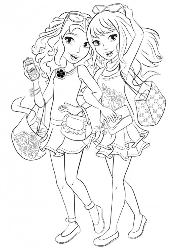 Раскраска лего френдс для девочек - 9