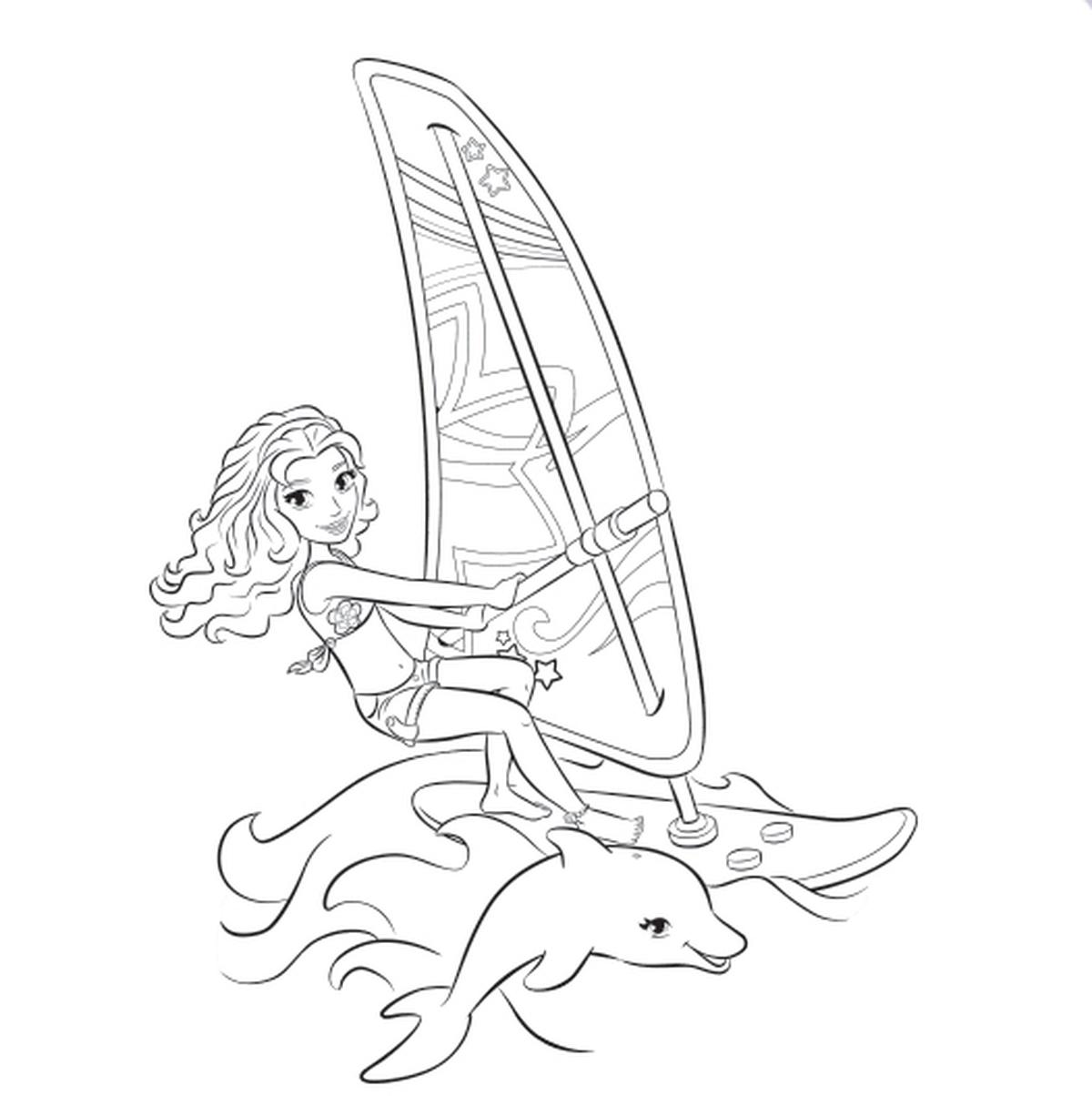 Раскраска лего для девочек - 2