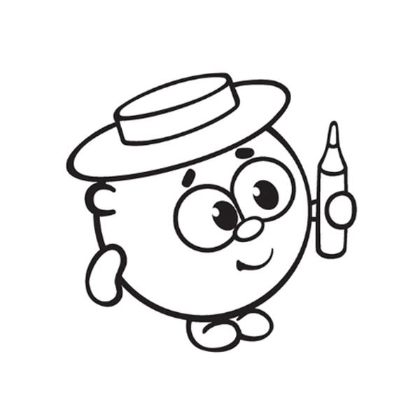 Раскраска Малышарики - детские раскраски распечатать бесплатно