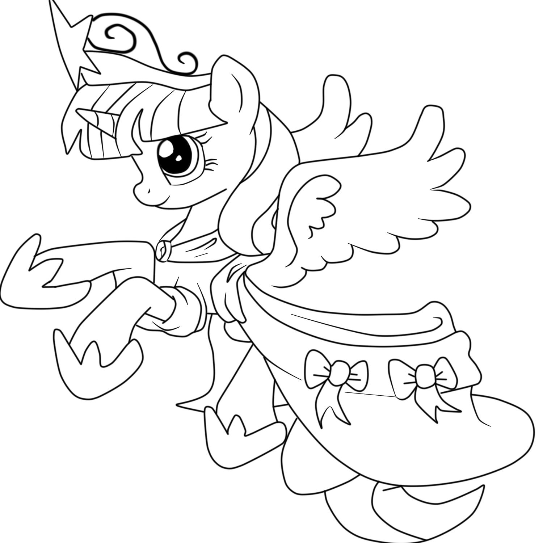 Раскраска для девочек милая пони распечатать - 4