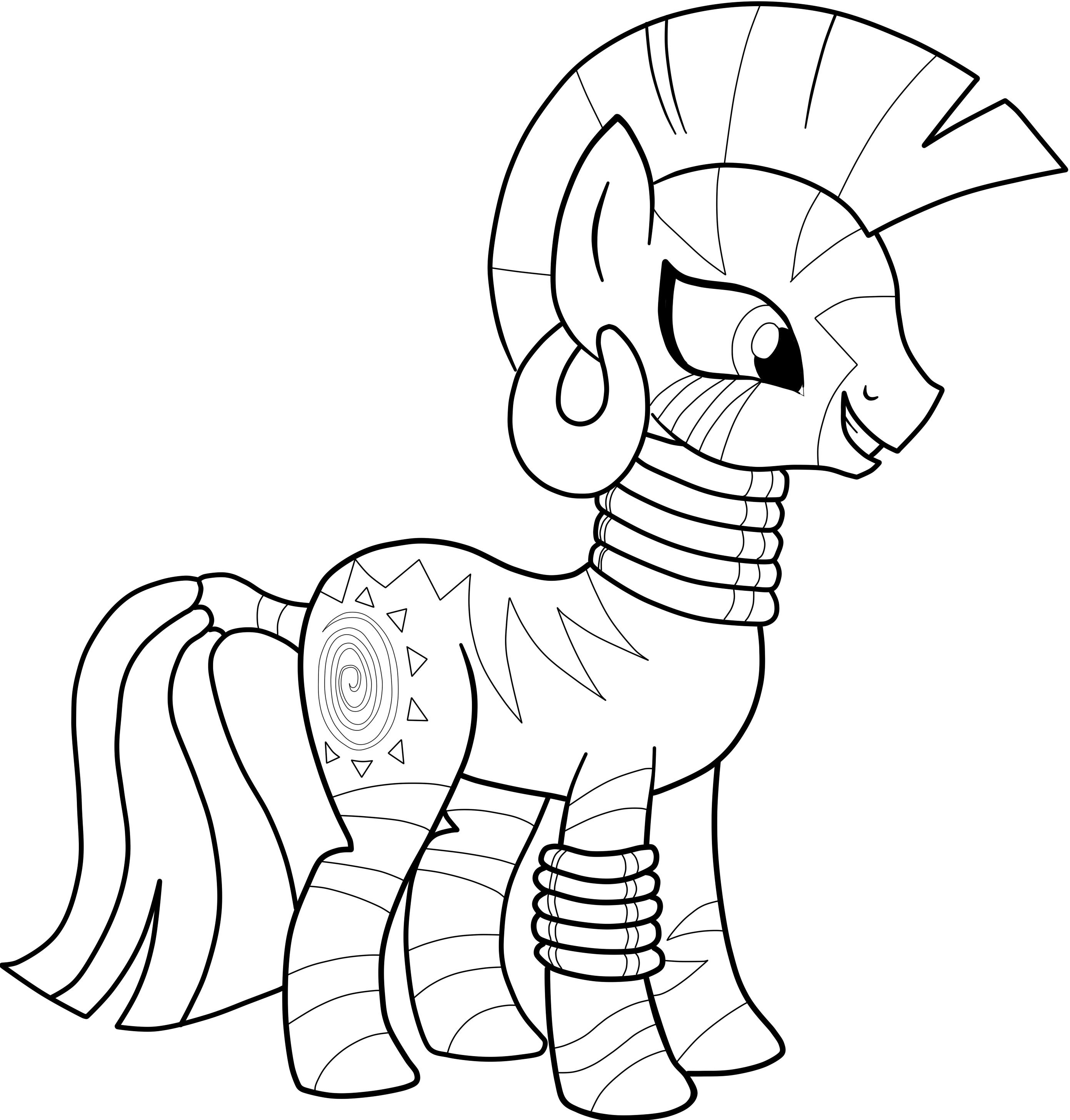картинки для раскраски милая пони
