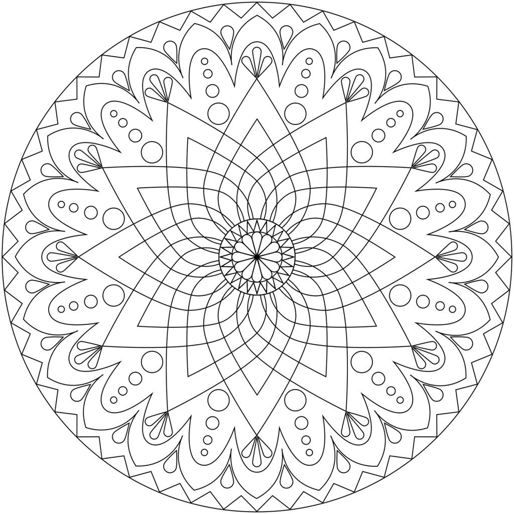 Картинка раскраска мандалы