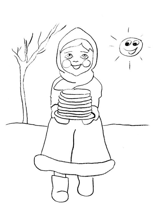 Масленица рисунки карандашом для срисовки