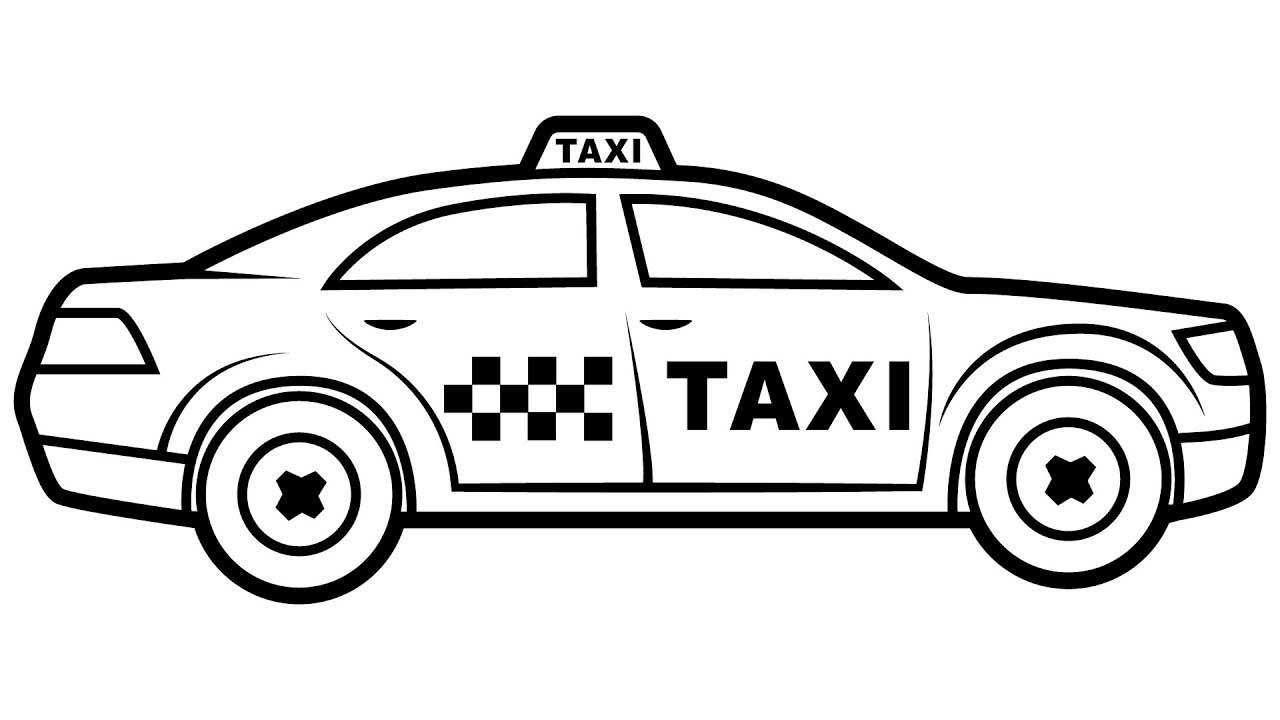 Картинка такси распечатать
