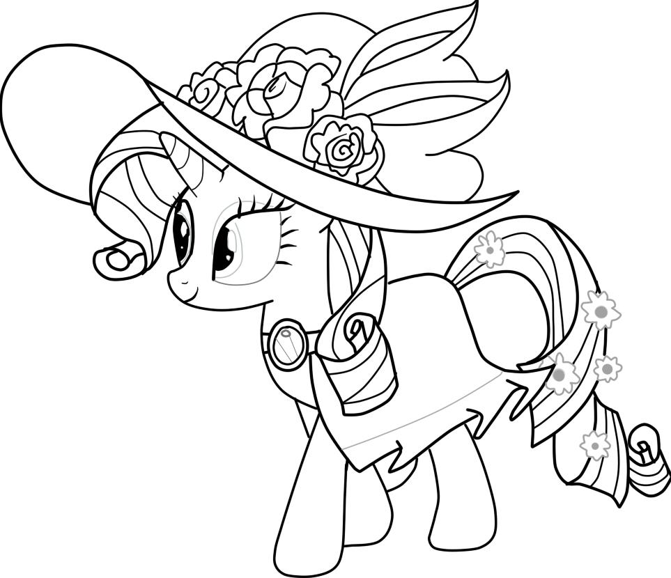Малитл пони раскраска
