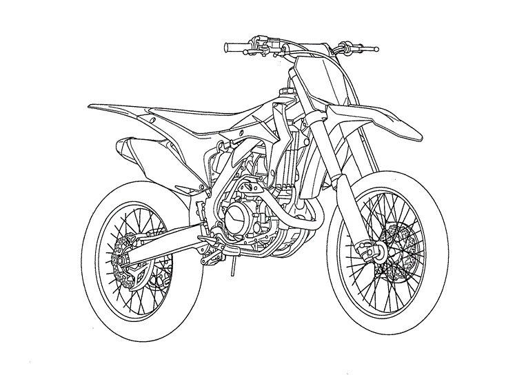 Раскраски кроссовых мотоциклов
