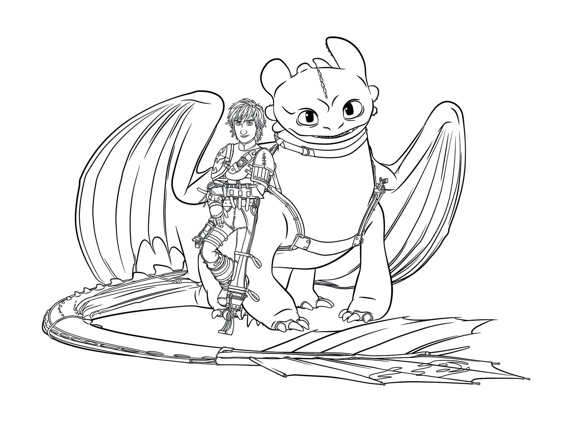 Раскраска драконы беззубик