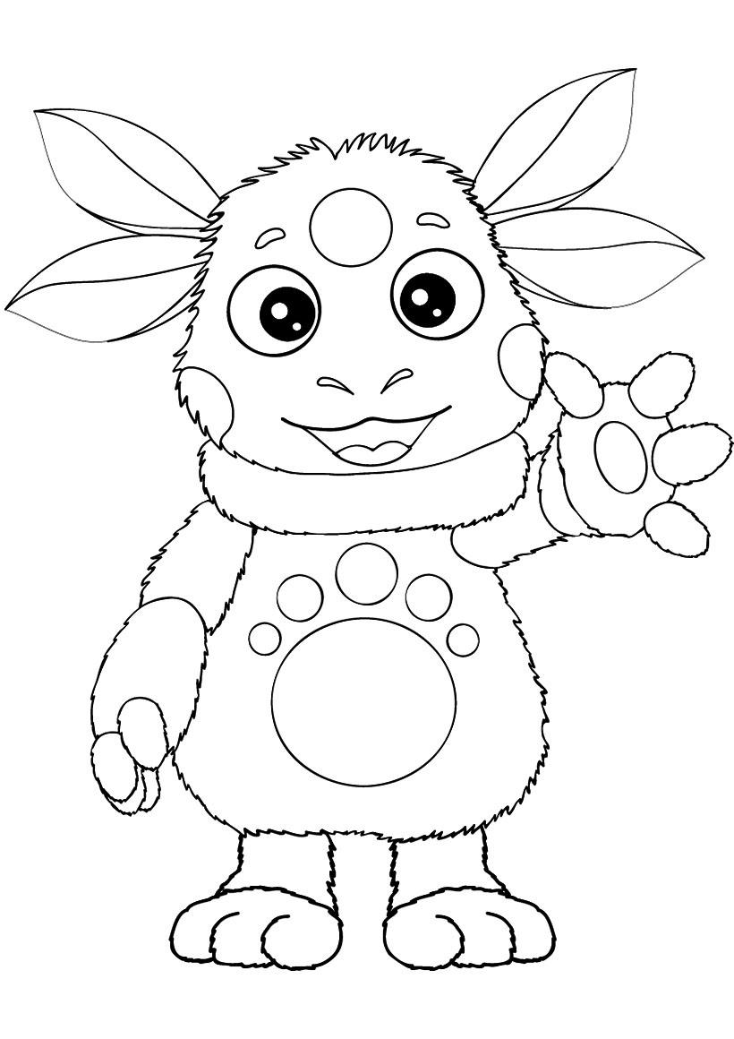 Раскраска Лунтик - детские раскраски распечатать бесплатно