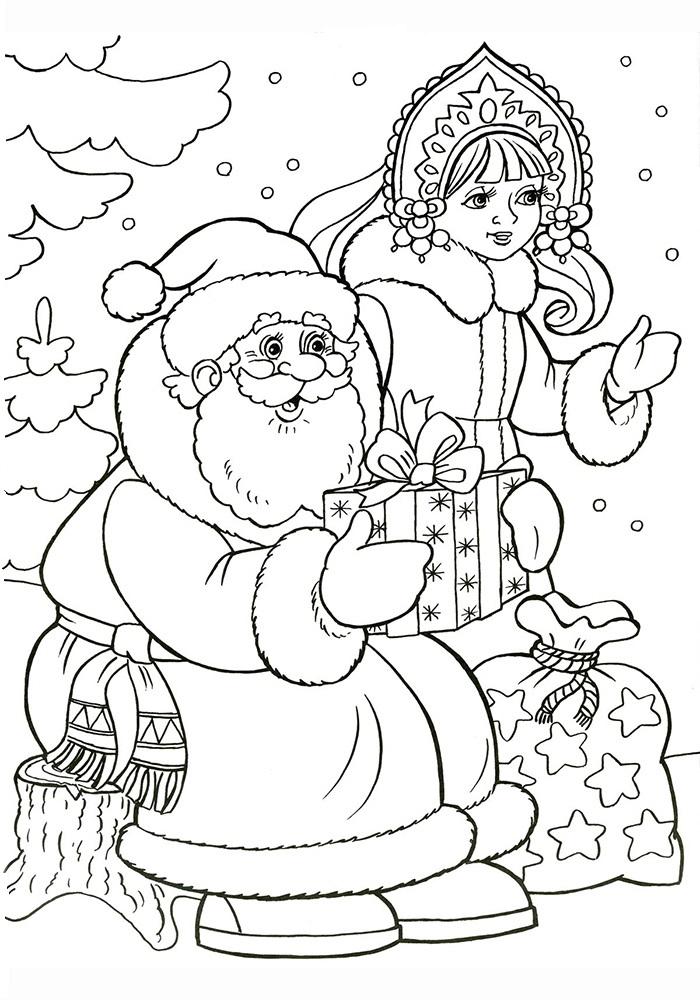 Новогодние картинки рисование