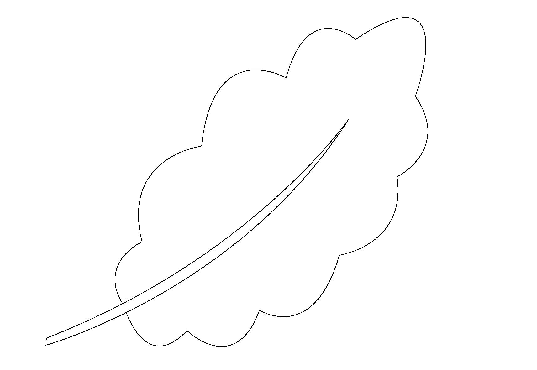Раскраска дубовый лист распечатать