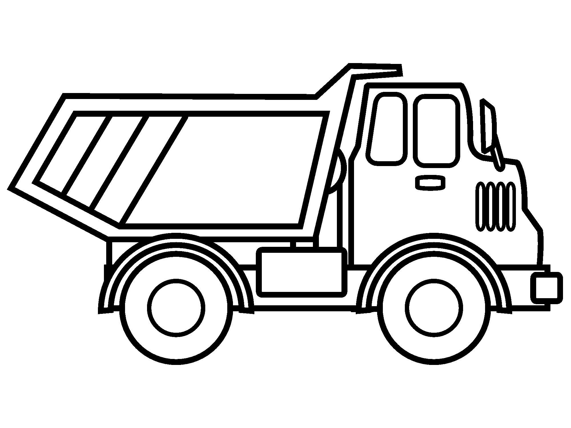 Картинки раскраски грузовик