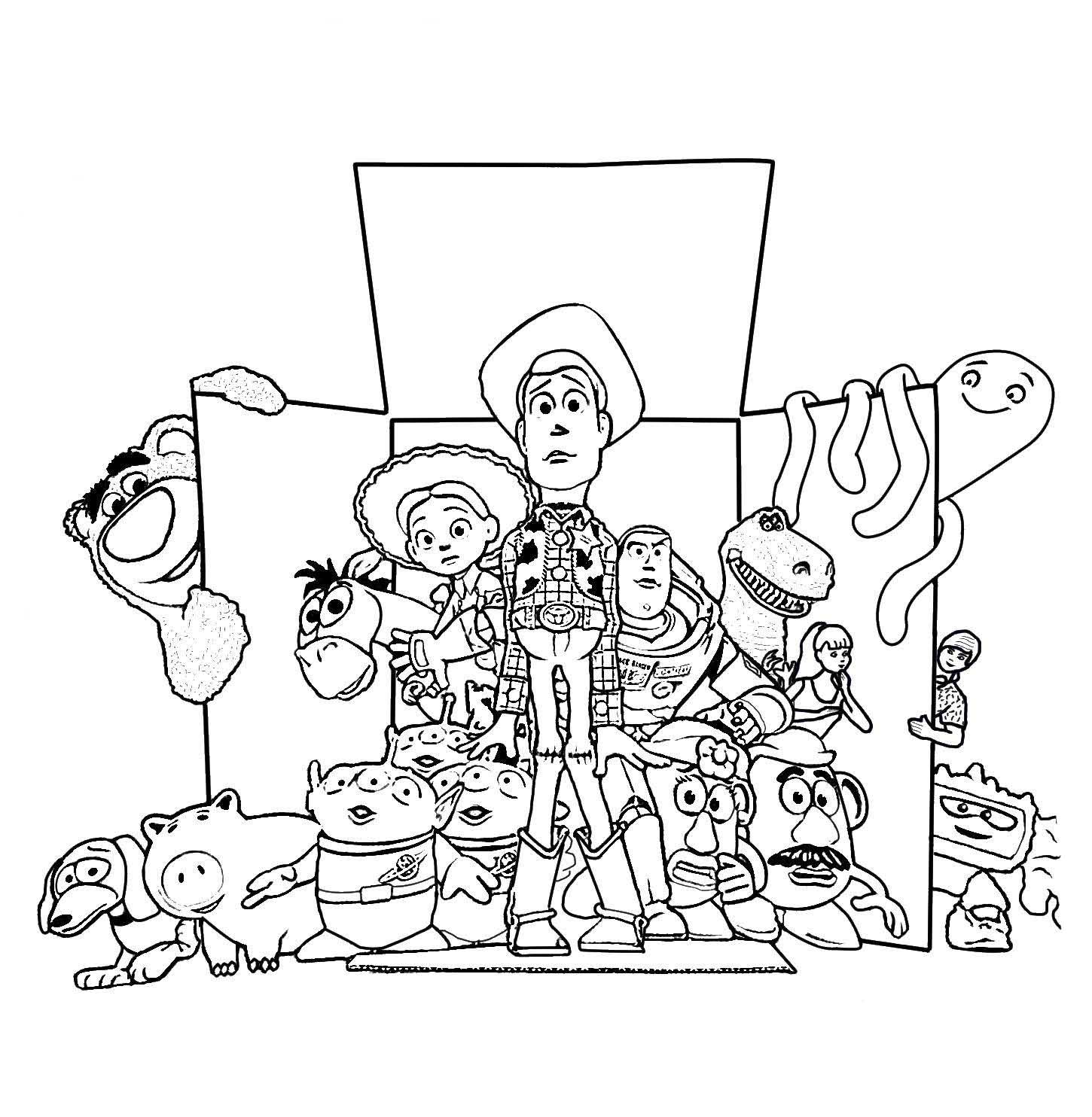 Раскраски История игрушек - детские раскраски распечатать ...
