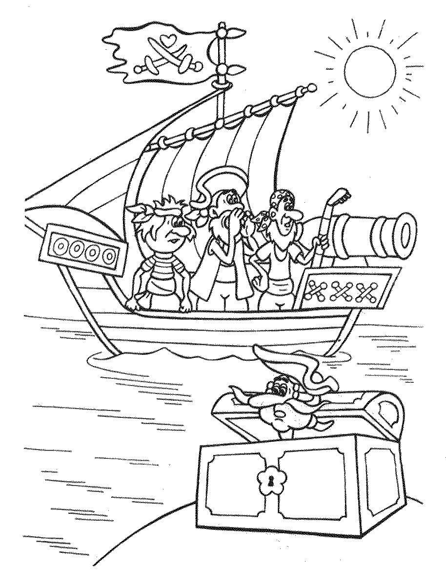 Раскраска пираты карибского моря 3