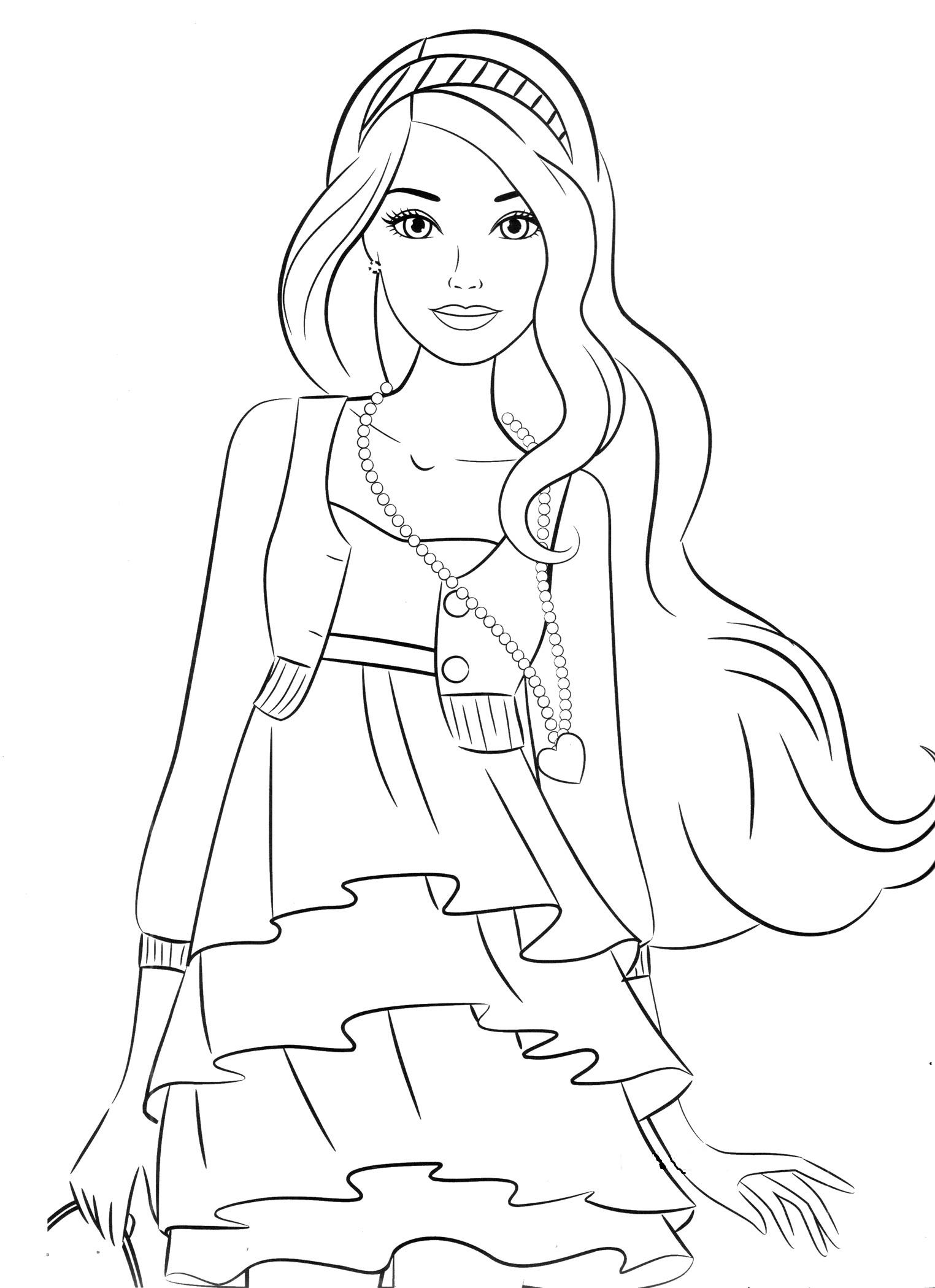 раскраска девочка в платье детские раскраски распечатать