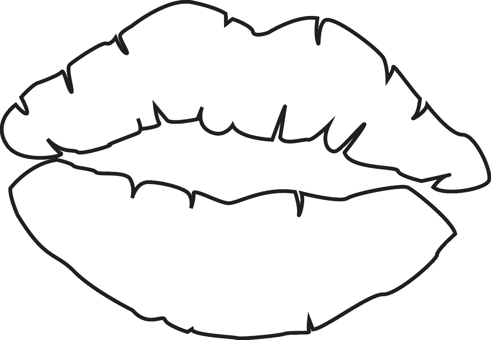 Картинки губы поцелуй нарисованные нераскрашенные