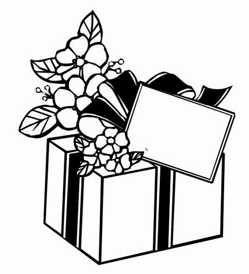 Раскраски подарки в коробках