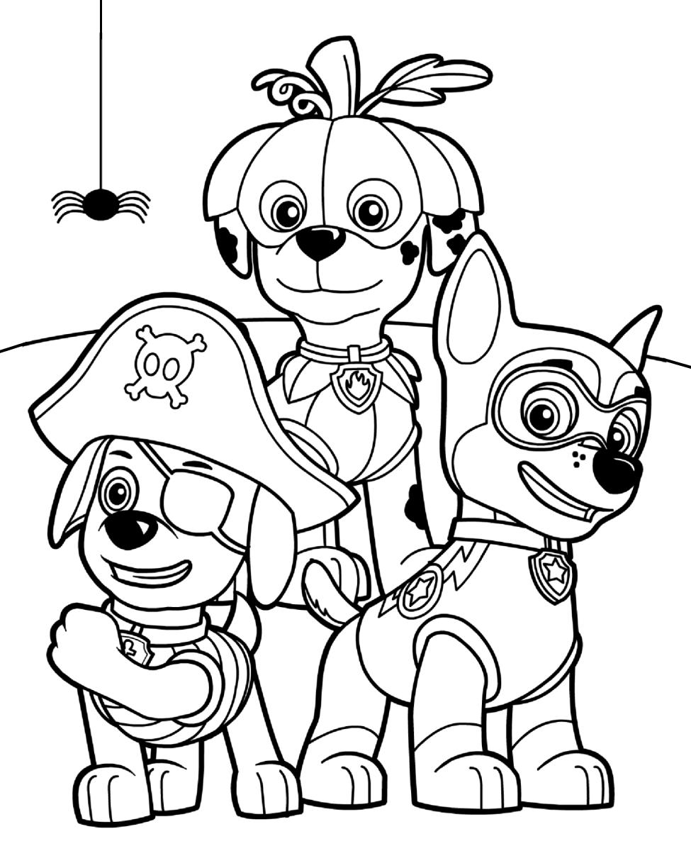 раскраски щенячий патруль детские раскраски распечатать