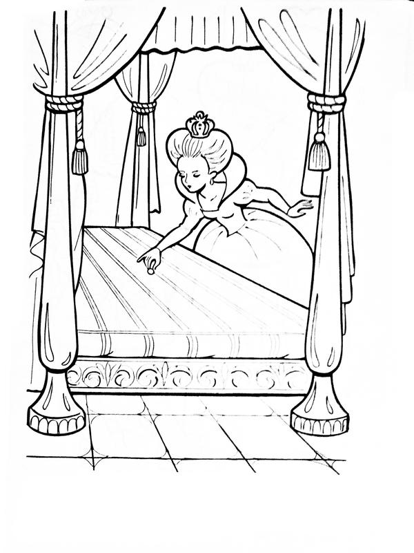 Раскраска Принцесса на горошине - детские раскраски ...