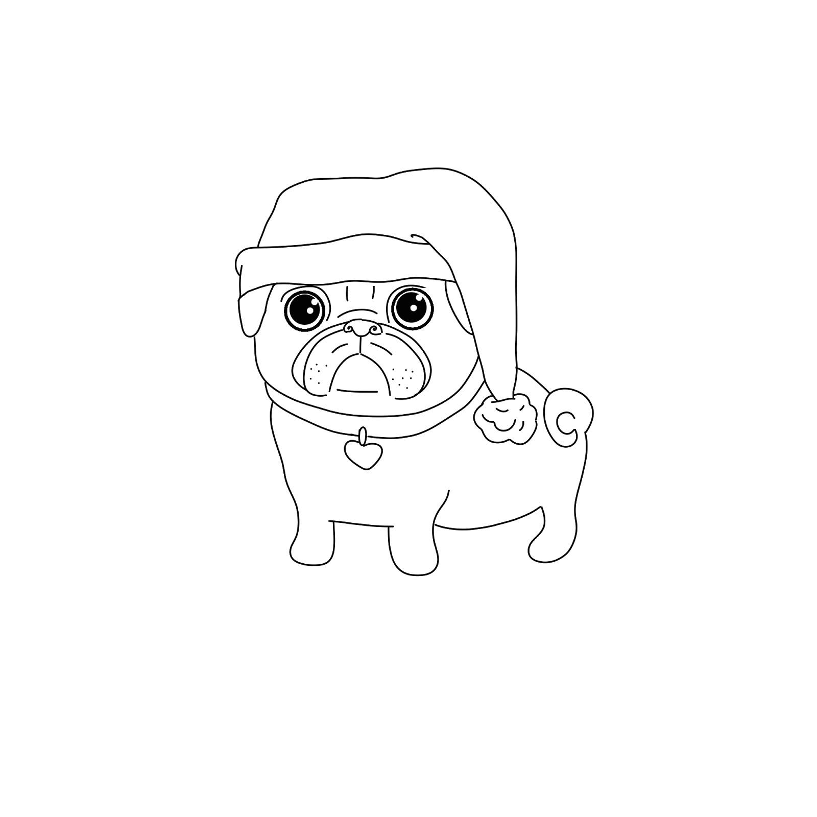 картинки раскраски щенки мопса более