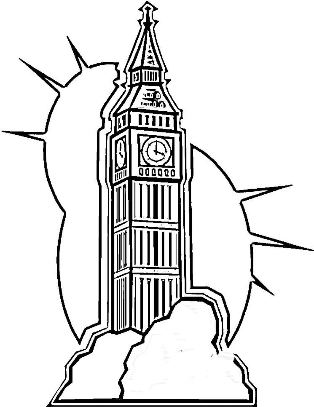 лондон раскраска для малышей который день