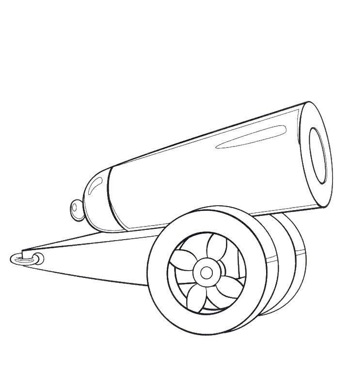 теле картинка раскраска пушка мотороллер гусеницах своими